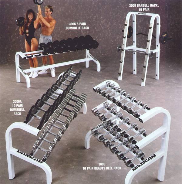 Dumbbell Set And Rack For Sale: IVANKO MAXICAM 3005 CHROME BEAUTY BELL DUMBBELL DUMBELL